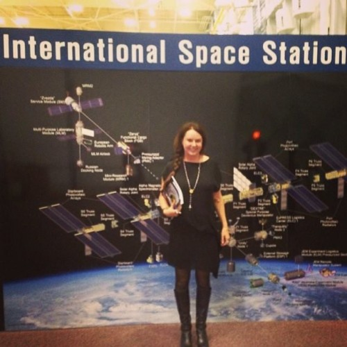 Sarah In Johnson Space Center in Houston (April 2014)