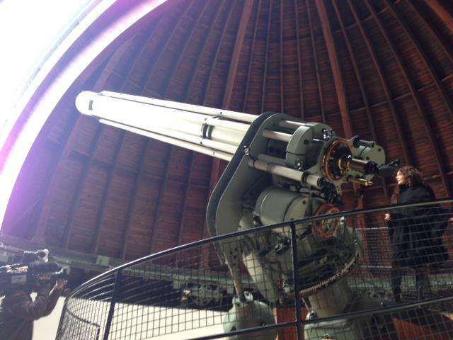 Sarah at the Deutsches Museum Observatory - 2013